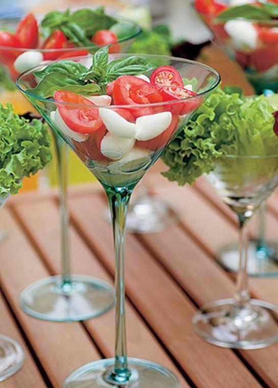 salada em taças