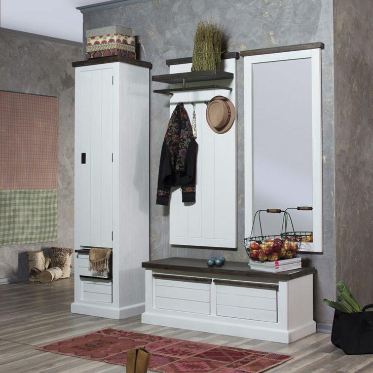 Serie loft im landhausstil aus massiver akazie spiegel for Landhausstil flur garderobe