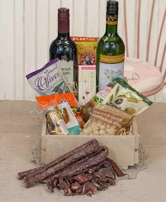 Wine and Biltong Box
