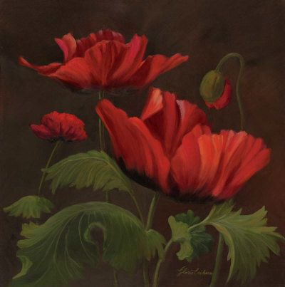 Vibrant Red Poppies II Posters by Gloria Eriksen
