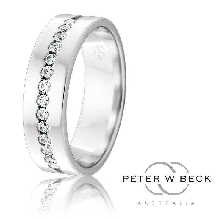Stunning Diamond Set Wedding Ring by Peter W Beck. www.pwbeck.com.au www.facebook.com/peterwbeck  #PeterWBeck #Wedding #Ring #Diamond #Gold #Jewellery #Love #Marriage