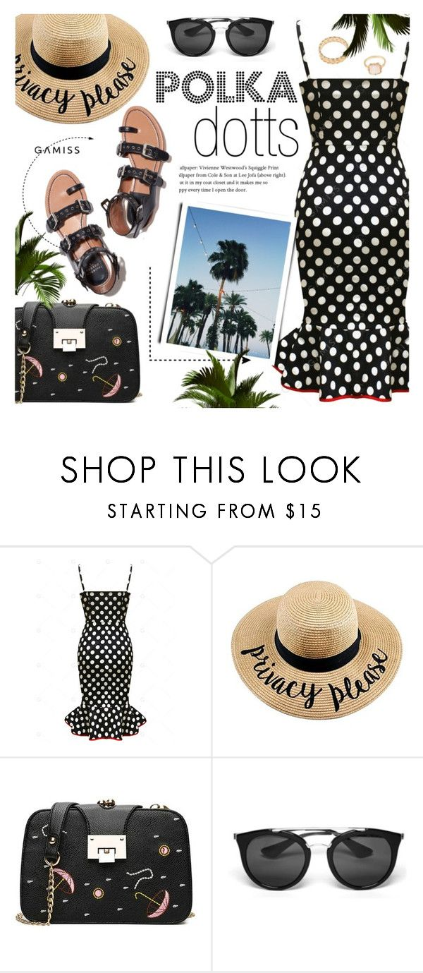 """""""Polka Dotts ~ GAMISS #24"""" by alexandrazeres ❤ liked on Polyvore featuring Prada, modern and vintage"""