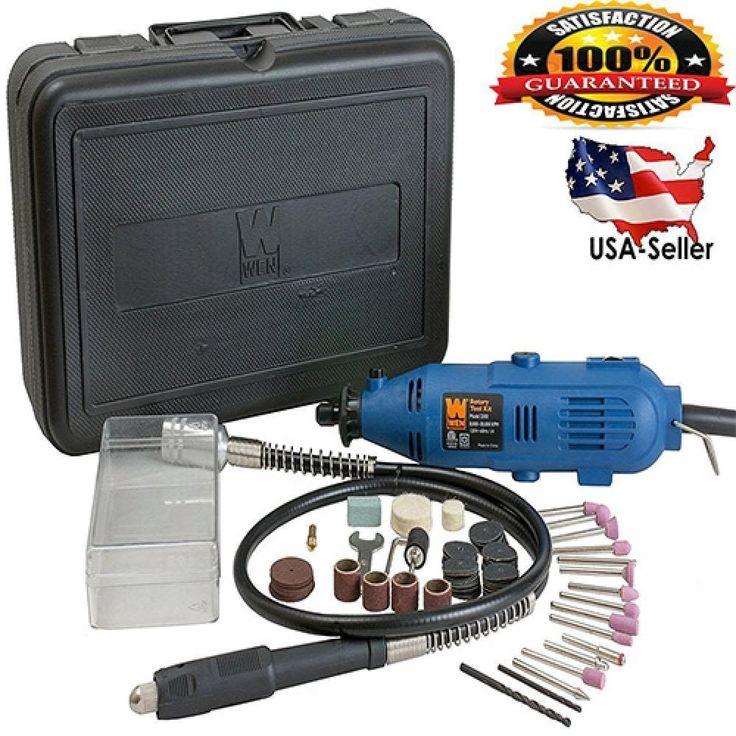 Rotary Tool Kit 100 PIECE Accessories Dremel Set Variable Speed Grinder Cutter #WEN #BasicKitCordedwFlexShaft