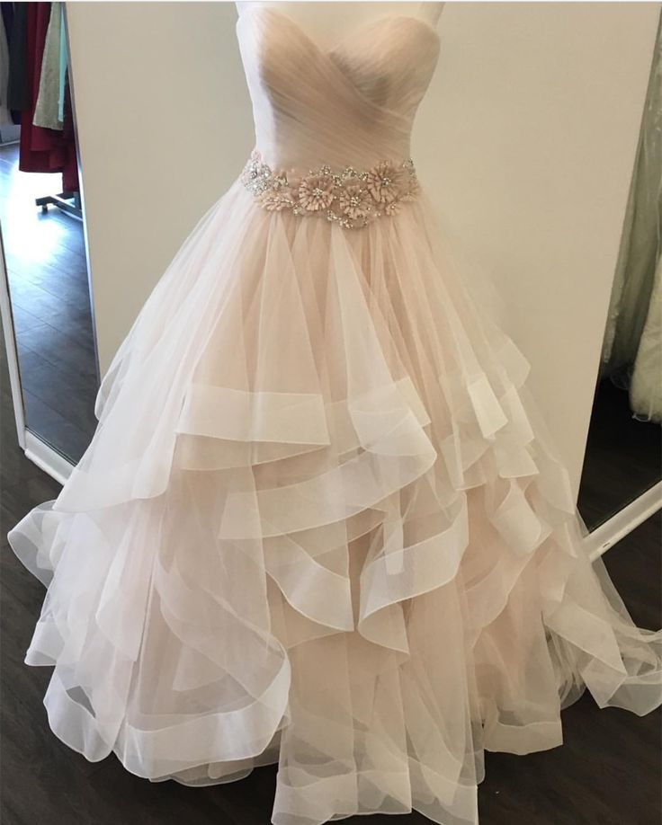 Blush Pink Wedding Gowns: Best 25+ Ruffle Wedding Dresses Ideas On Pinterest