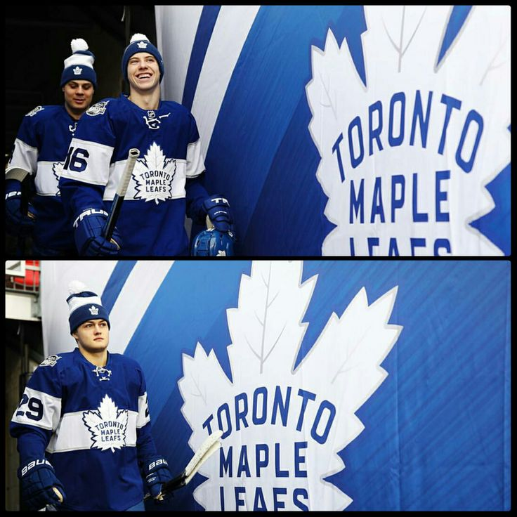 Toronto Maple Leafs Rookies: Auston Matthews, Mitch Marner, and William Nylander at the Centennial Classic.