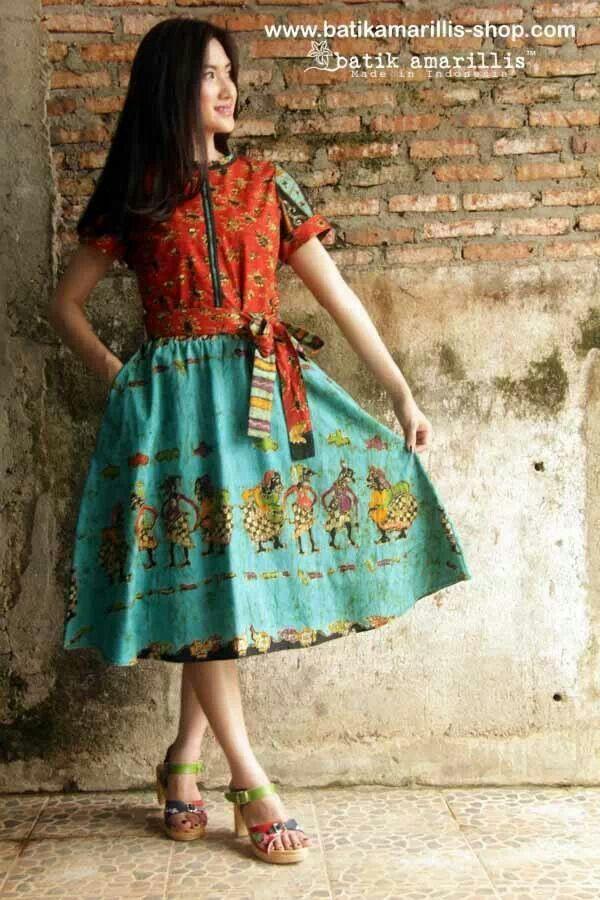 Dress batik wonogiri seri wayang