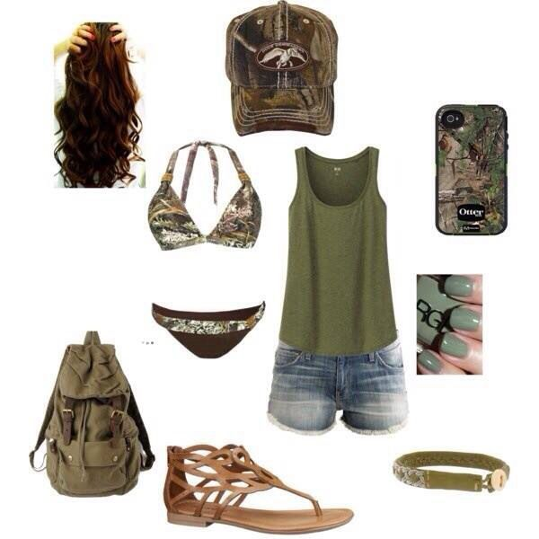Lovin' this Country summer outfit! #camo #countryfashion #summer For more Cute n' Country visit: www.cutencountry.com and www.facebook.com/cuteandcountry