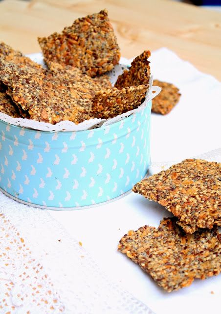 Nem acredito que é saudável!: Crackers de sementes (vegan) . Seed Crackers (vegan)