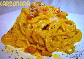 La vera carbonara ? La cercate da tempo?? Beh allora mettete insieme spaghetti, guanciale, tuorli e pepe, pecorino e il risultato è lì! Ci sono...