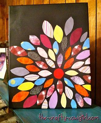 Easy DIY Flower on Canvas