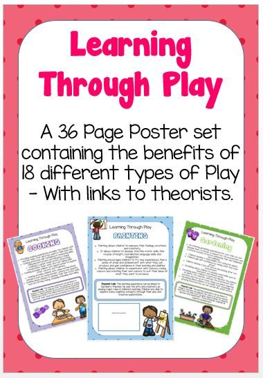 This beautifully designed poster pack includes 36 colourful posters containing all of the benefits of 18 different types of play with links to relevant theorists..They are perfect for displaying on walls,...
