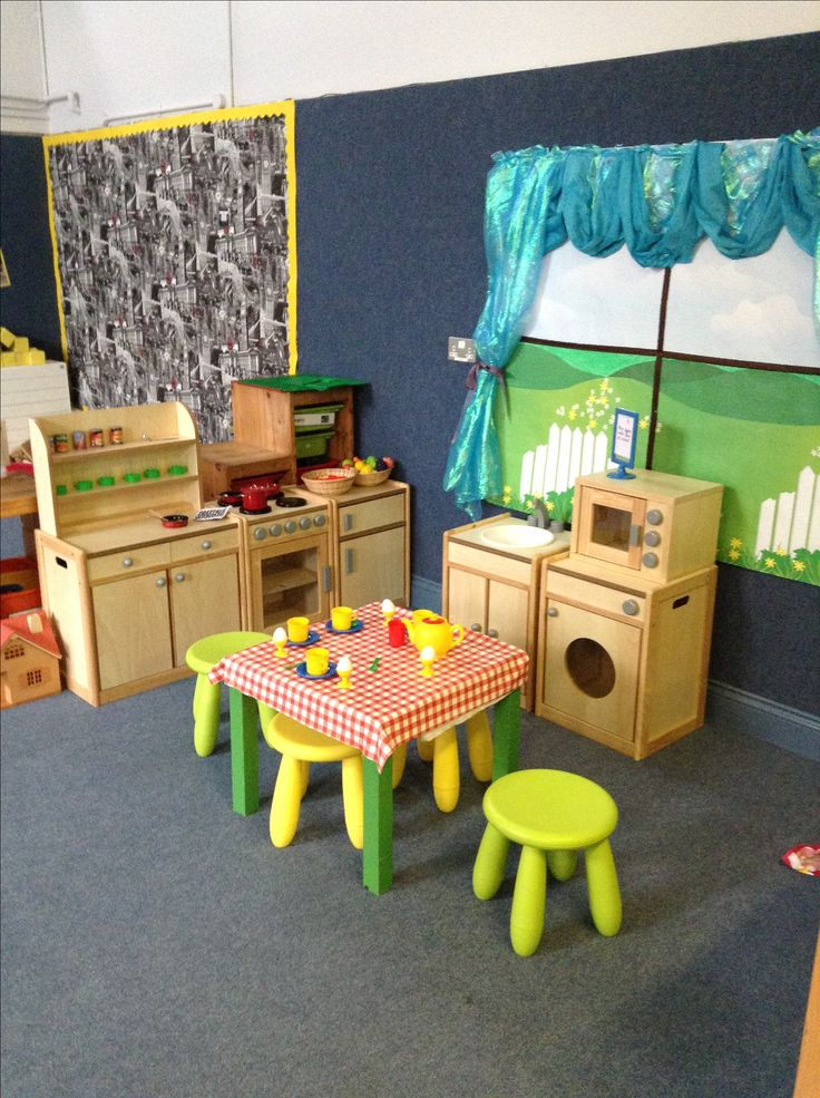 57 best role play home corner images on pinterest for Daycare kitchen ideas