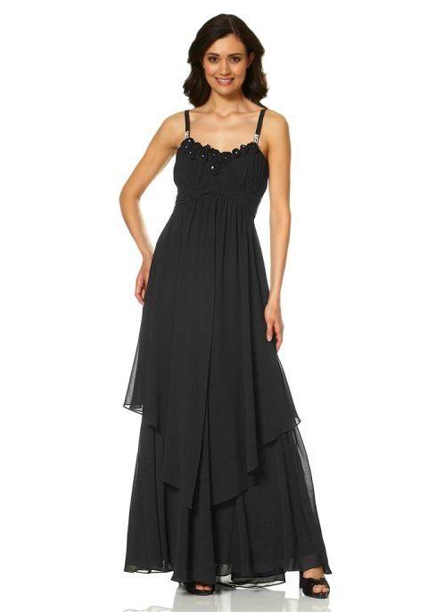 Chiffon-Kleid schwarz-523042 | Lange schwarze kleider ...