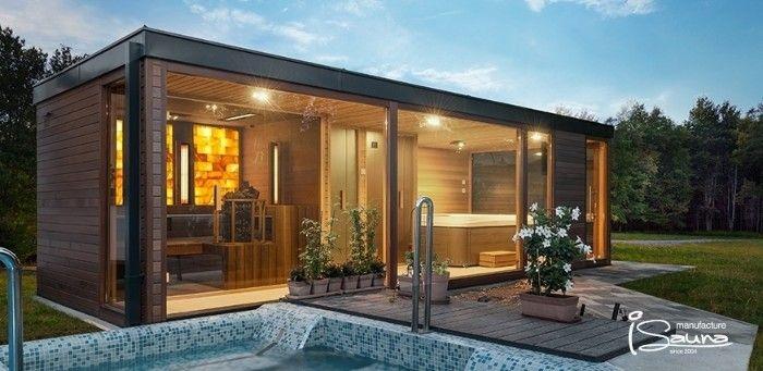 1001 Ideen Fur Moderne Gartenhauser Zum Traumen Saunahaus Gartenhaus Mit Sauna Saunahaus Garten