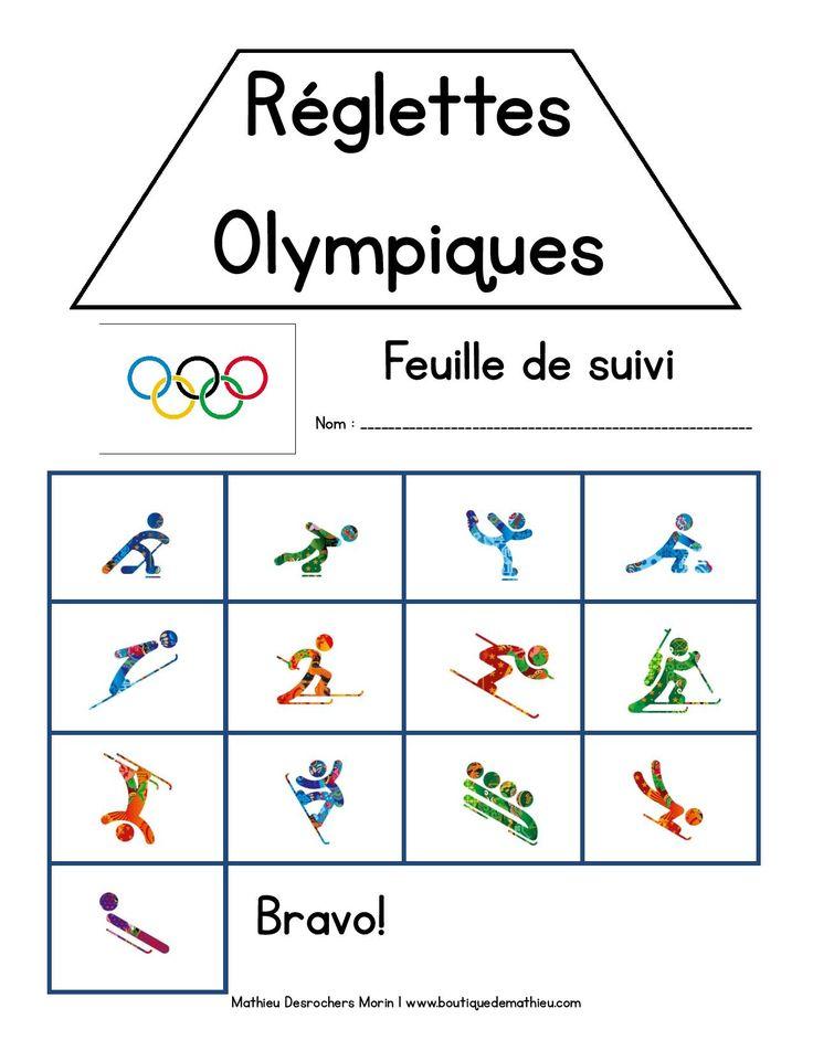 Jeu de réglettes des sports olympiques d'hiver