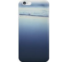 Mediterranean sea at low tide on beach Ibiza Spain dusk sunset evening colors square film analogue photo iPhone Case/Skin