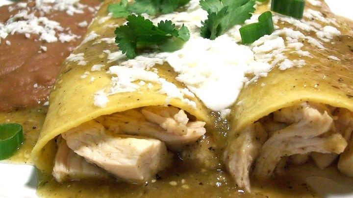 Authentic Enchiladas Verdes Recipe — Dishmaps