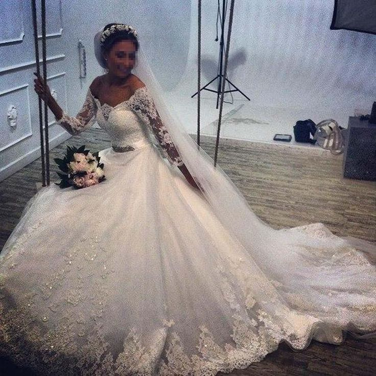 Neu Weiß 3/4 Arm Brautkleid A Line Spitze Applique Hochzeitskleid 36 38 40 42+ | eBay