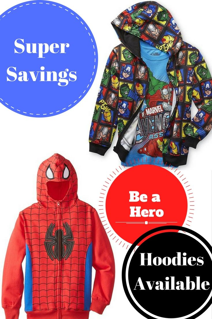 DC and Marvel comic character hoodies for sale now!