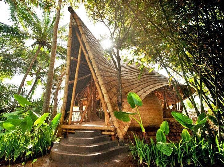 Casas Ecologicas: Impresionante villa ecológica en Bali con casas he...