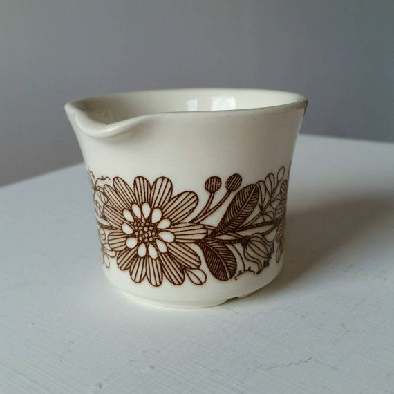Vintage Finnish Flint Arabia creamer /milk jug Elina 60s Esteri Tomula.