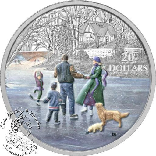 Coin Gallery London Store - Canada: 2015 $20 Ice Dancer Silver Coin, $99.95