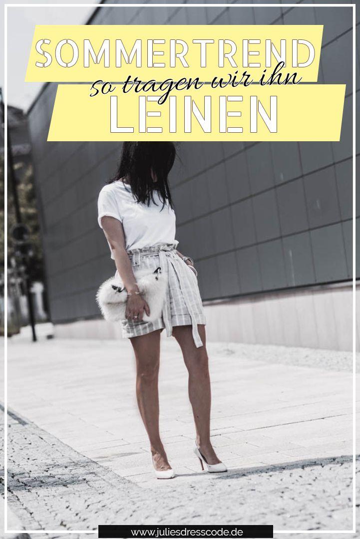 Der Sommertrend Leinen und wie wir ihn jetzt tragen – Julies Dresscode   Fashion Trends, Outfits & Streetstyles