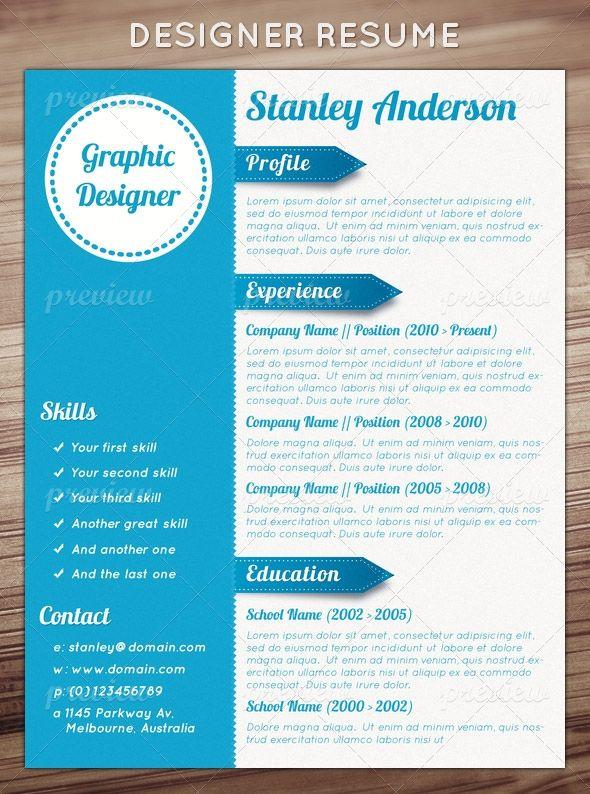 54 best Unique Resume Designs images on Pinterest Resume design - best designer resumes