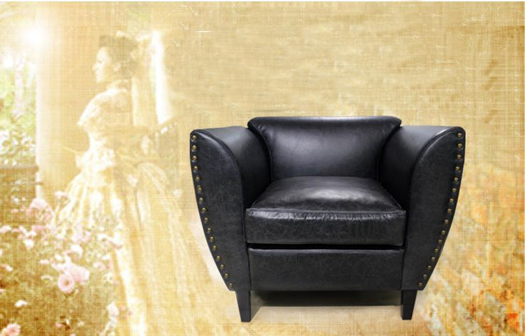Черное кожаное кресло с широким сиденьем и подлокотниками и низкой спинкой купить в интернет-магазине мебели https://lafred.ru/catalog/catalog/detail/25065144573/