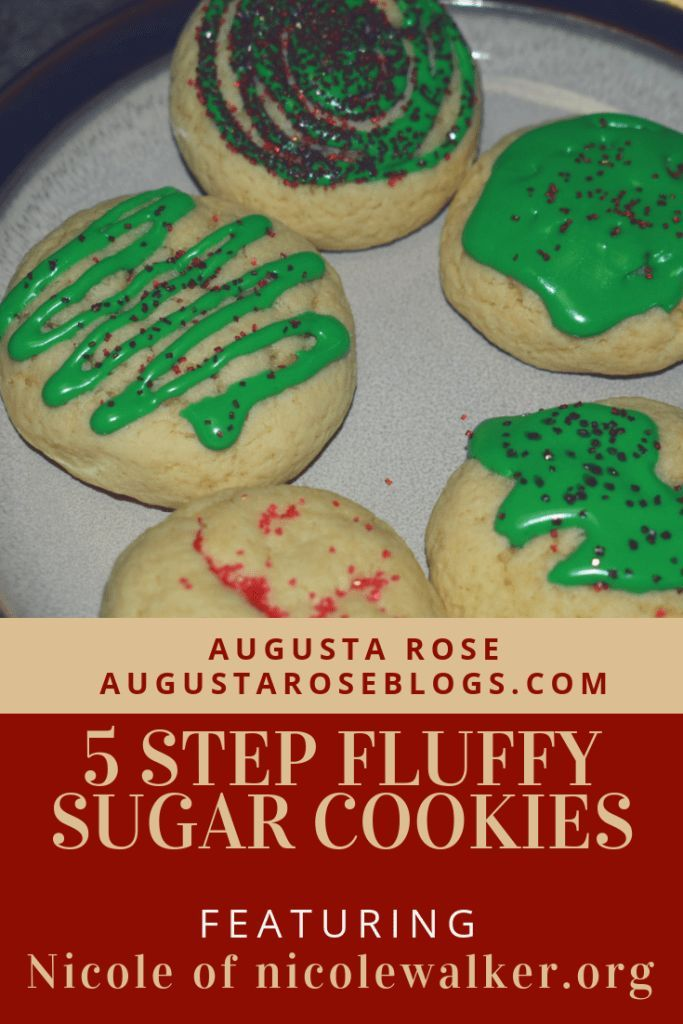 5 Step Fluffy Sugar Cookies Great For Any Fall Occasion Sugar Cookies Easy Holiday Treats Cookies