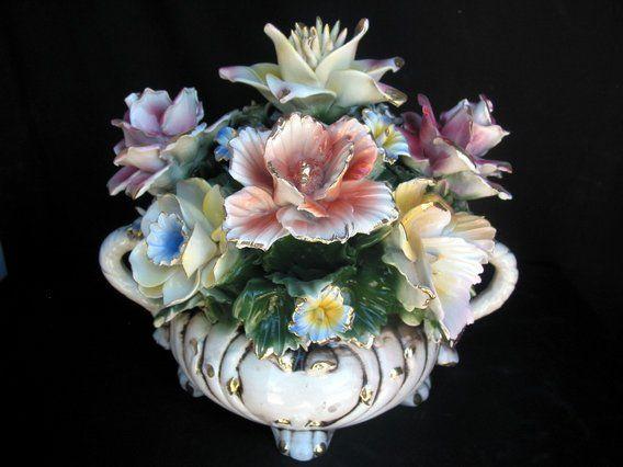 Capodimonte floral centerpieces pinterest