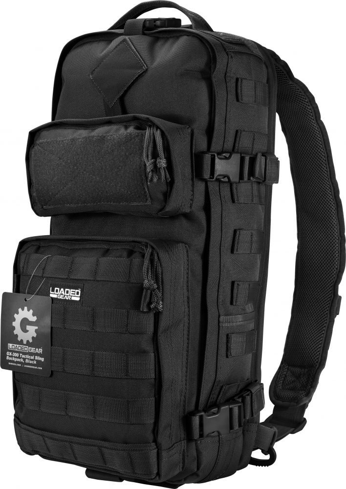 Barska Loaded Gear GX-300 Tactical Sling Backpack Black