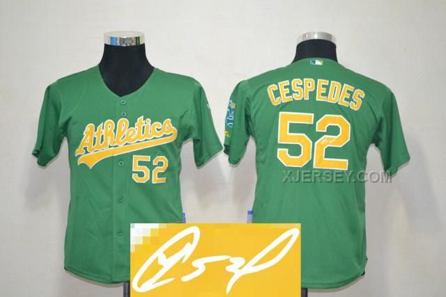 http://www.xjersey.com/athletics-52-cespedes-green-signature-edition-youth-jerseys.html ATHLETICS 52 CESPEDES GREEN SIGNATURE EDITION YOUTH JERSEYS Only $35.00 , Free Shipping!