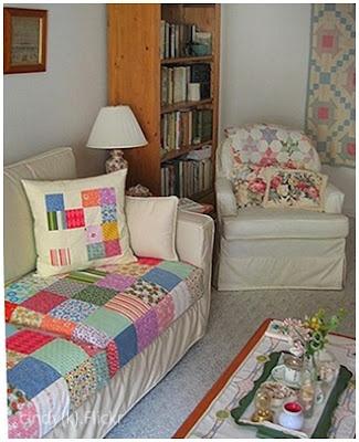 Sofa colorido com Pacth