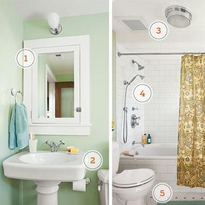 Adding a bathroom to your basement? Follow our guidelines to make it functional and eye-catching. | Photo: John Granen | thisoldhouse.com