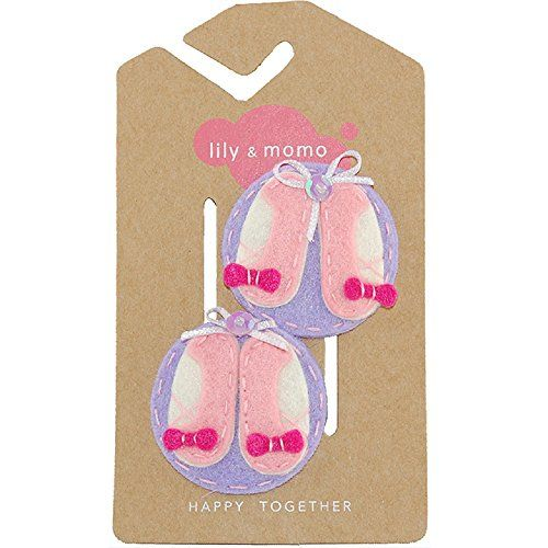 Lily and Momo Ballet Slippers Hair Clips LilacPinkWhite * More info could be found at the image url.(This is an Amazon affiliate link and I receive a commission for the sales)
