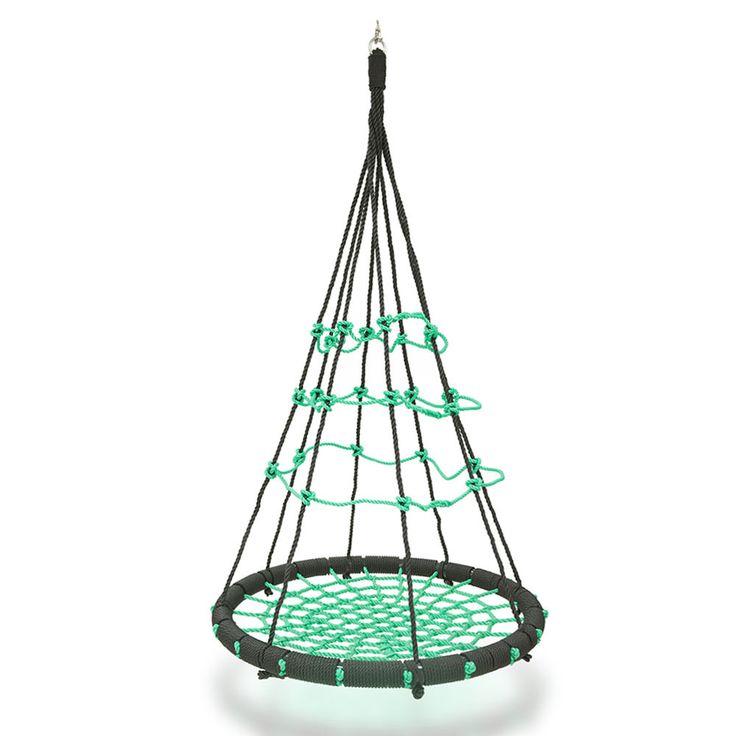 Garden Swing Seat Green Hammock Swing Nest Round Hanging Chair For Child  200kg
