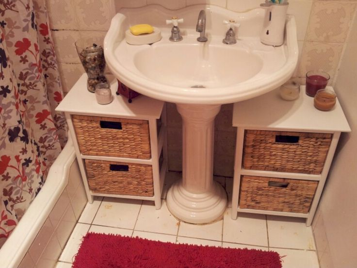 cool 56 Creative Storage Bathroom Ideas for Space Saving