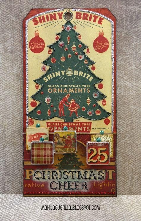12 Tags for Christmas 2017 - Shiny Brite
