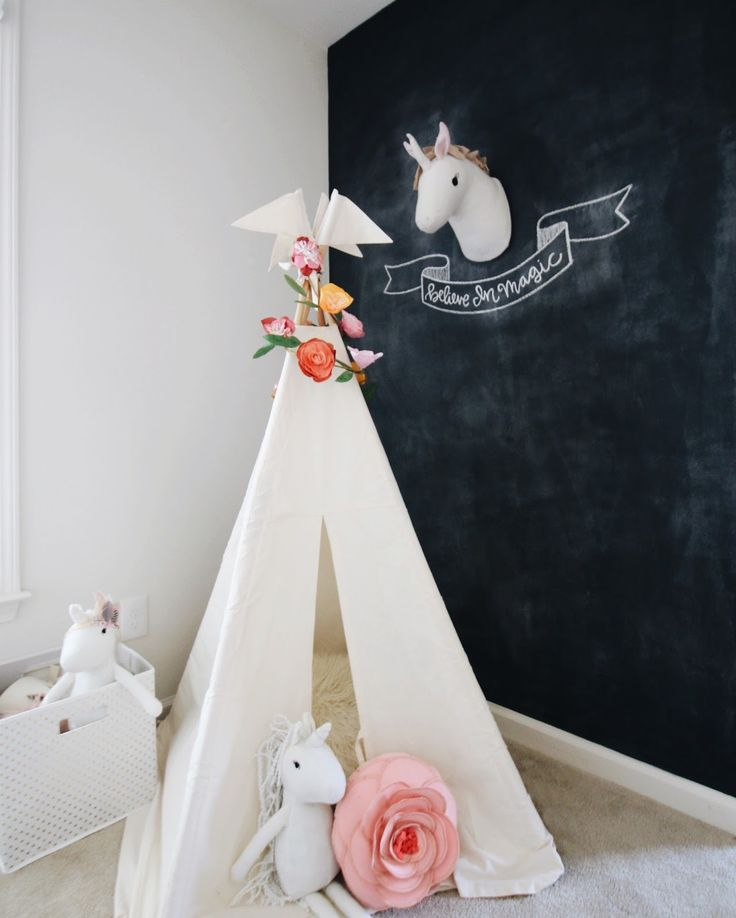 Garvin and Co.: Whimsical Play Space with Pillowfort for Target Reg size teepee by Moozle moozlehome.com
