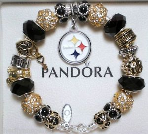 authentic pandora sterling silver charm bracelet with