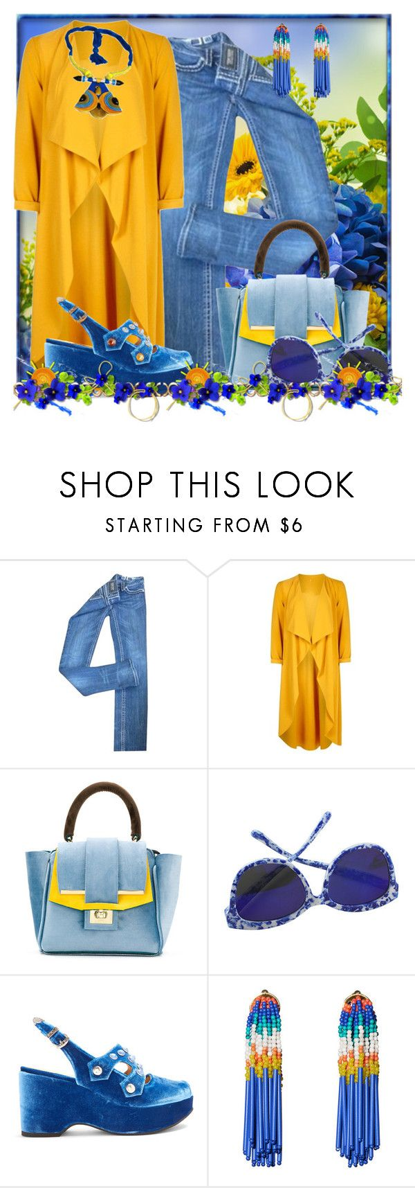 """""""Fall Blues"""" by doozer ❤ liked on Polyvore featuring Miss Me, Boohoo, Alila, Toga and Lele Sadoughi"""