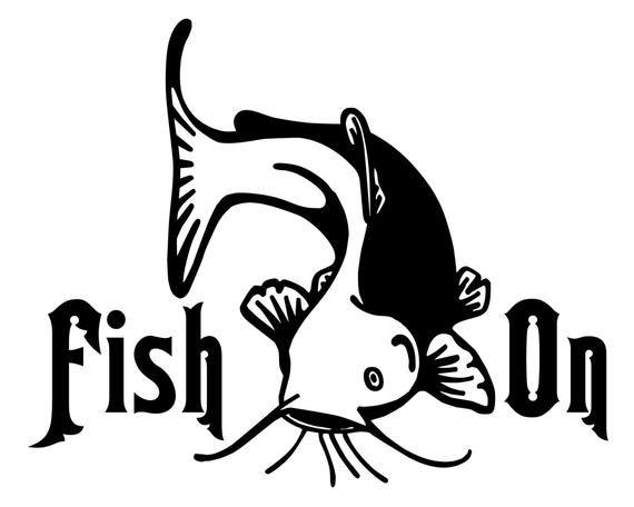 Catfish Hunter Window Decal Fishing Salt Fresh Water Bass Car Truck Boat Sticker