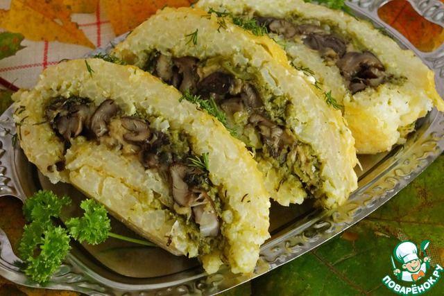 Рисовый рулет с грибами ингредиенты