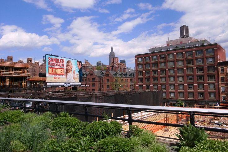 High line new york - empire state building - vista - parco urbano