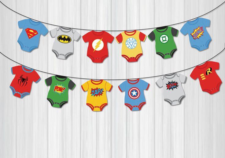 Superhero Batman Superman Avengers Banner Birthday Party Decorations Kids Event