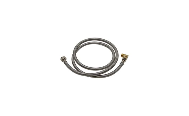 "Fluidmaster 1W48 48"" Universal Stainless Steel Dishwasher Connection Hose 3/8"" Accessory Dishwasher Hose Assembly"