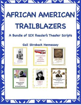 """This bundle contains six of my Ms. Bie Ografee Talk Show format Reader's Theater Scripts. The bundle includes Bessie Coleman, Tuskegee Airmen, Harriet Tubman, Rosa Parks, Martin Luther King and George Washington Carver.Each play has the """"guest"""" visiting Ms."""
