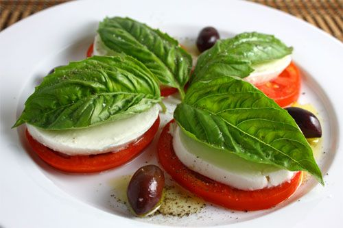 Caprese Salad can be a wonderful 1st course or a wonderful light meal.. Healthy and really delish!