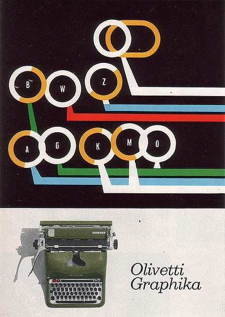 Olivetti Graphika advertising by Giovanni Pintori